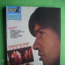 Revistas de música: POPULAR 1 CONCIERTO PETER GABRIEL PERFECTO ESTADO.COMPLETO CON POSTER /CON 7 /PDELUXE. Lote 53477581