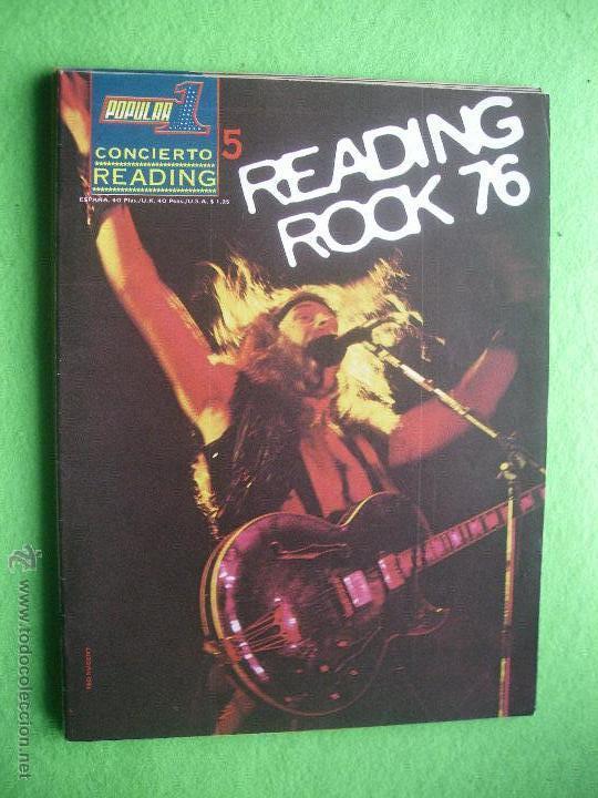 POPULAR 1 CONCIERTO READING 1976 PERFECTO ESTADO.COMPLETO CON POSTER N 5 PDELUXE (Música - Revistas, Manuales y Cursos)