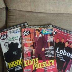 Revistas de música: RUTA 66 NÚMEROS 156, 185 Y 186. Lote 53804443