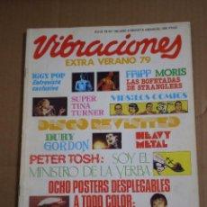 Revistas de música: REVISTA VIBRACIONES EXTRA VERANO JULIO 1979 Nº 58 CONTIENE SEIS POSTER. Lote 54579515