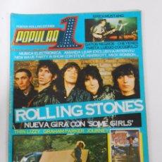 Revistas de música: REVISTA POPULAR 1 Nº 61. JULIO 1978. ROLLING STONES. SIREX-MUSTANG. PINK POP HOLANDA. TDKR8. Lote 54665072