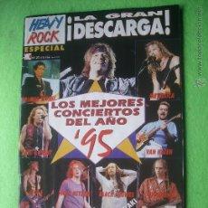 Revistas de música: REVISTA HEAVY ROCK CONCIERTOS DEL AÑO 1995 Nº 27 PDELUXE. Lote 54682017