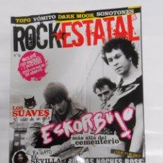 Revistas de música: REVISTA ROCK ESTATAL. ROCKESTATAL. Nº 16. LOS SUAVES. ESKORBUTO. EL SEVILLA... TDKR10. Lote 54738498