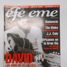 Revistas de música: REVISTA EFE EME Nº 30. DAVID BOWIE. LOS AÑOS DE LA COCAINA. RAMONCIN. THE KINKS. J.J. CALE. TDKR10. Lote 54739529