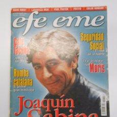 Revistas de música: REVISTA EFE EME Nº 10. JOAQUIN SABINA. CAFE TACUBA. SEGURIDAD SOCIAL... TDKR10. Lote 100062010