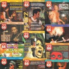 Revistas de música: REVISTA RUTA 66 - AÑO 1993 COMPLETO. 11 NÚMEROS (80 AL 90). Lote 54989956
