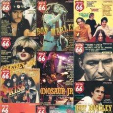 Revistas de música: REVISTA RUTA 66 - AÑO 1997 COMPLETO. 11 NÚMEROS (124 AL 134). Lote 54992197