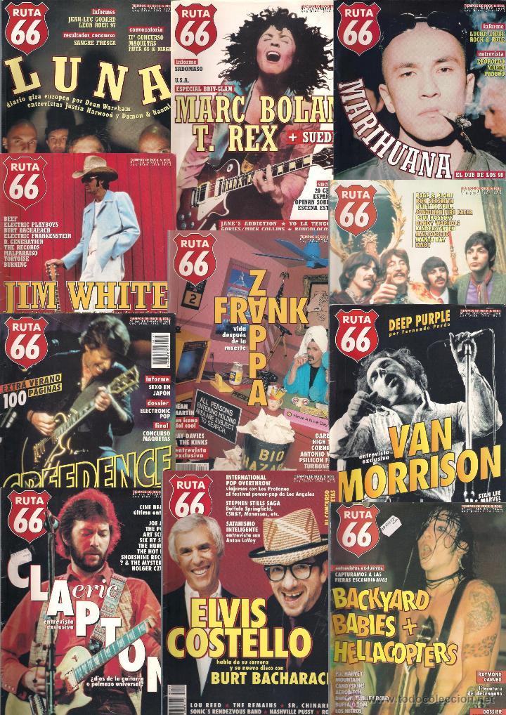 REVISTA RUTA 66 - AÑO 1998 COMPLETO. 11 NÚMEROS (135 AL 145) (Música - Revistas, Manuales y Cursos)