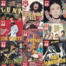 Revistas de música: REVISTA RUTA 66 - AÑO 1998 COMPLETO. 11 NÚMEROS (135 AL 145). Lote 54992364