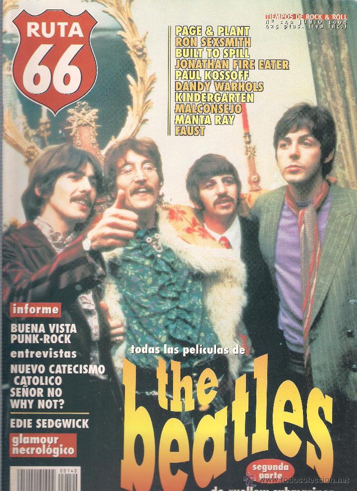 Revistas de música: Revista Ruta 66 - Año 1998 completo. 11 números (135 al 145) - Foto 7 - 54992364