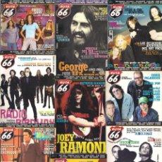 Revistas de música: REVISTA RUTA 66 - AÑO 2002 COMPLETO. 11 NÚMEROS (179 AL 189). Lote 55001321