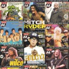 Revistas de música: REVISTA RUTA 66 - AÑO 2004 COMPLETO. 11 NÚMEROS (201 AL 211). Lote 55001350