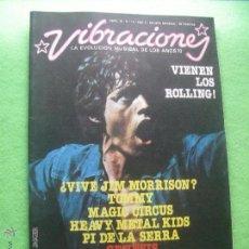 Revistas de música: VIBRACIONES MICK JAGGER EN PORTADA !!!VIENEN LOS ROLLING!! Nº 19. 1976 PDELUXE. Lote 55011215