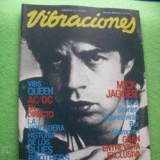 Revistas de música: VIBRACIONES MICK JAGGER EN PORTADA VIBS: QUEEN Nº 77 1981 PDELUXE. Lote 60120313