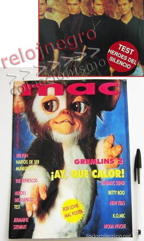 REVISTA MAC 10 - AÑO 1990 - MÚSICA - CINE - TEST DE HÉROES DEL SILENCIO - GREMLINS 2 - BIG FUN - ETC (Música - Revistas, Manuales y Cursos)