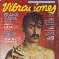 Revistas de música: REVISTA VIBRACIONES Nº 68 MAYO 1980 ZAPPA. Lote 55867611