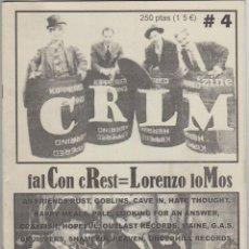 Revistas de música: C R L M (ZINE) CAVE IN G.A.S., FUERZA DE LUCHA, HAPPY MEALS.... Lote 55871552