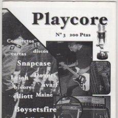 Revistas de música: PLAYCORE Nº3 SNAPCASE BCORE, .... Lote 55873585
