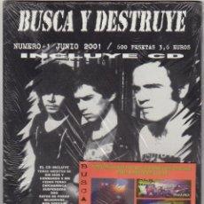 Revistas de música: BUSCA Y DESTRUYE Nº1 (INCLUYE CD) SIN DIOS, COMMANDO 9 MM, NON SERVIUM, RATOS DE PORAO.... Lote 55878769