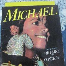 Revistas de música: MICHAEL JACKSON IN CONCERT LIBRO TOUR -SPECIAL SECTION-32 PAGINAS. Lote 55914841