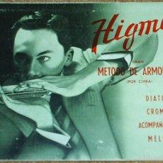 Revistas de música: HIGMA-METODO DE ARMONICA POR CIFRA-DIATONICA CROMATICA-ACOMPAÑAMIENTO MELODICO 1973 . ORIGINAL. Lote 55931637