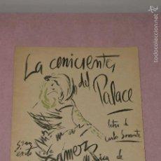 Revistas de música: PARTITURA LA CENICIENTA DEL PALACE, MUSICA DE FERNANDO MORALEDA. Lote 56048442
