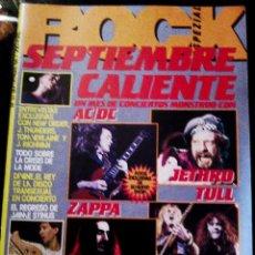 Revistas de música: REVISTA MUSICAL - ROCK ESPECIAL - Nº 37 AÑO 1984. IRON MAIDEN . AC-DC.. Lote 56158941
