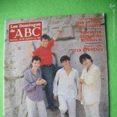 Revistas de música: REVISTA LOS DOMINGOS DE ABC 1980 / HOMBRES G UN GRUPO DE PELICULA . Lote 56189619