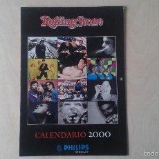 Revistas de música: CALENDARIO REVISTA ROLLINGSTONE 2000 [ KETAMA, ZZ TOP, ANDRÉS CALAMARO, RICKY MARTIN, MANU CHAO... ]. Lote 56740771