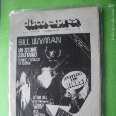 Revistas de música: DISCO EXPRES BILL WYMAN EN PORTADA!!!! Nº 374-WYMAN,KINKS,U.HEEP,J.TULL.. 1975 PDELUXE. Lote 56818118
