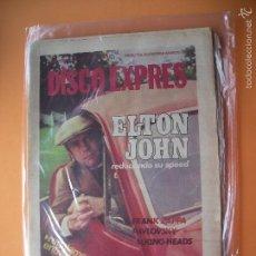 Revistas de música: DISCO EXPRES ELTON JOHN EN PORTADA Nº 497-ZAPPA,TALKING HEADS,GALLAGH 1979 PDELUXE. Lote 56947552