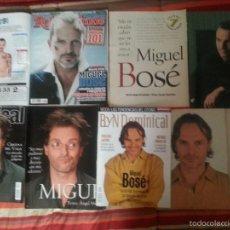 Revistas de música: MIGUEL BOSÉ COLECCIÓN ARTÍCULOS DE PRENSA, REVISTA Y REPORTAJES. Lote 56995506