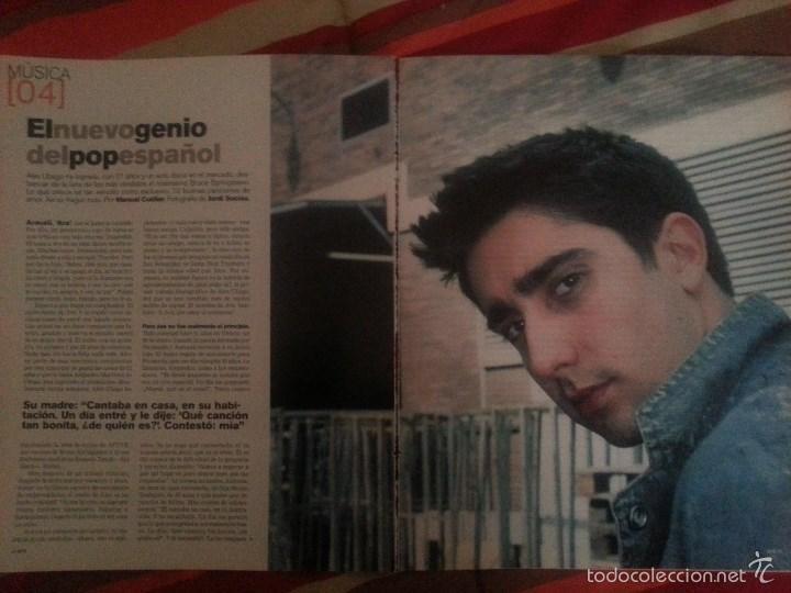 ÁLEX UBAGO COLECCIÓN REPORTAJES DE REVISTA DE 2002 (Música - Revistas, Manuales y Cursos)