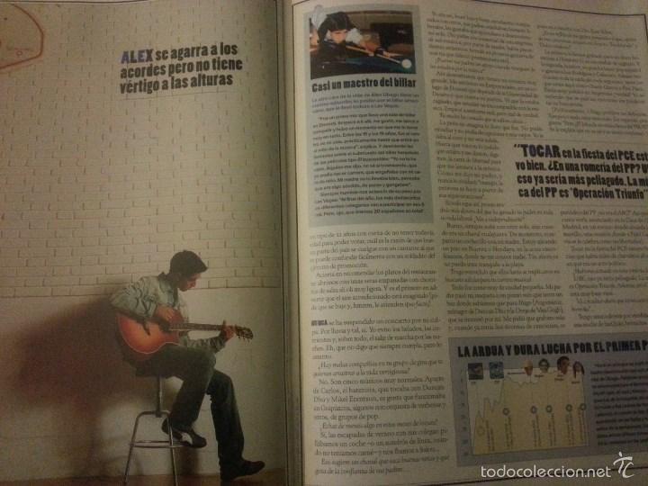 Revistas de música: Álex Ubago colección reportajes de revista de 2002 - Foto 4 - 56996605