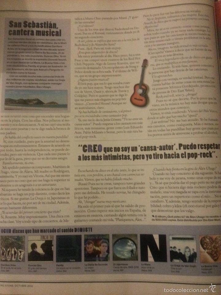 Revistas de música: Álex Ubago colección reportajes de revista de 2002 - Foto 5 - 56996605