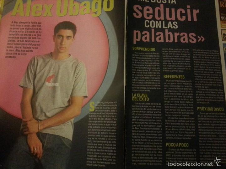 Revistas de música: Álex Ubago colección reportajes de revista de 2002 - Foto 9 - 56996605