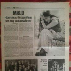Revistas de música: MALÚ COLECCIÓN DE REPORTAJES DE REVISTA. Lote 56996669