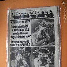 Revistas de música: DISCO EXPRES BOB MARLEY EN PORTADA Nº 459-MRLEY,SIREX,RASTAS,COMICS 1978 PDELUXE. Lote 57026575