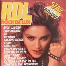 Revistas de música: ROCK DE LUX / RDL 11 (SEPTIEMBRE 1985): MADONNA (PORTADA Y ESTUDIO), U2, ARIEL ROT (TEQUILA), AC/DC. Lote 57407451