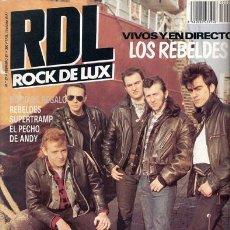 Revistas de música: ROCK DE LUX / RDL 27 (FEBRERO 1987): LOS REBELDES (PORTADA Y REPORTAJE), JOY DIVISIÓN, HEAVY THRASH. Lote 57539729