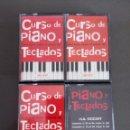 Revistas de música: CURSO PIANO Y TECLADOS, 4 CINTAS CASETTE + VHS. Lote 135929198