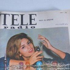Revistas de música: TELE RADIO Nº 365 SOLEDAD MIRANDA EN PORTADA. Lote 57736669