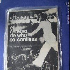 Revistas de música: DISCO EXPRES WHO EN PORTADA Nº 425.TOWSHEND, CAMEL,KRAFTWERK 1977 PDELUXE. Lote 57740061