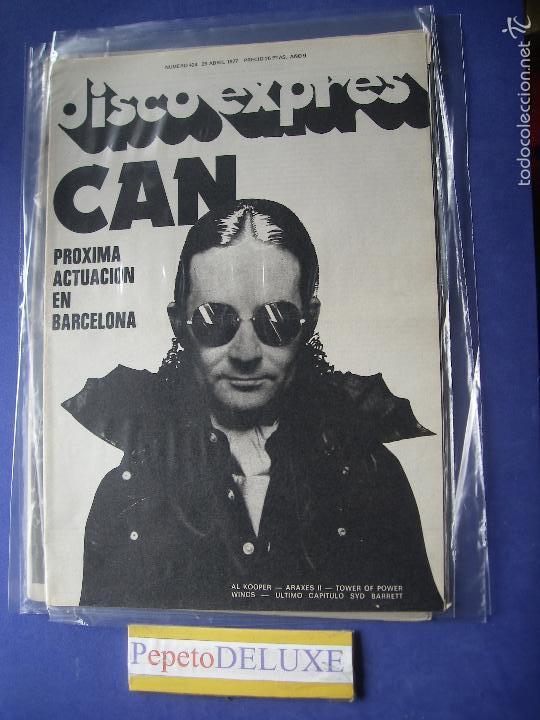 DISCO EXPRES CAN EN PORTADA Nº 424.AL KOOPER,SYD BARRET,WINGS 1977 PDELUXE (Música - Revistas, Manuales y Cursos)