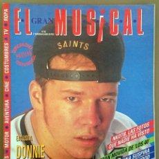 Revistas de música: EL GRAN MUSICAL Nº 343, JUNIO 1991. NKOTB, MADONNA, KYLIE MINOGUE, LOS RODRÍGUEZ, STATUS QUO, DNI. Lote 57801400
