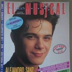 Revistas de música: EL GRAN MUSICAL Nº 356, ENE 1992. ALEJANDRO SANZ, REBELDES, M. JACKSON, SKID ROW. POSTER LUZ / NKOTB. Lote 57828508