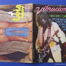 Revistas de música: REVISTA VIBRACIONES Nº 26 NOVIEMBRE 1976. ERIC CLAPTON.. Lote 58251497