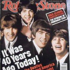 Revistas de música: REVISTA ''ROLLING STONE'' - 40º ANIVERSARIO DE LA PRIMERA VISITA DE LOS BEATLES A EE.UU. (2004). Lote 58416339