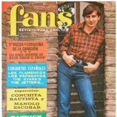 Revistas de música: REVISTA FANS - AÑO II Nº 50 – PATRICK JAQUE, RAIMÓN, LONE STAR… POSTER CONCHITA BAUTISTA+M. ESCOBAR. Lote 58565455