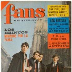 Revistas de música: REVISTA FANS - AÑO II Nº 52 – LOS BRINCOS, THE BEATLES, PILI Y MILI, ANTOINE… POSTER ALEX MARCO. Lote 58565531
